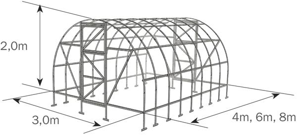 Zahradní skleník 2DUM